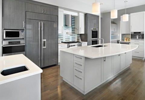 armarios-en-color-gris-para-una-cocina-elegante-06 | Guía para Decorar