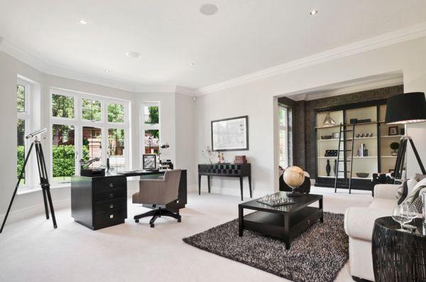 Como Decorar La Casa Con Muebles De Color Negro - Decoracion-muebles-blanco