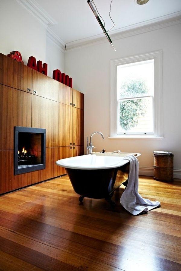 Descubre c mo decorar el ba o con madera for Revestimiento de madera para banos