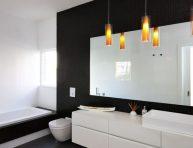 imagen Cuartos de baño decorados en color negro ¿te animas?