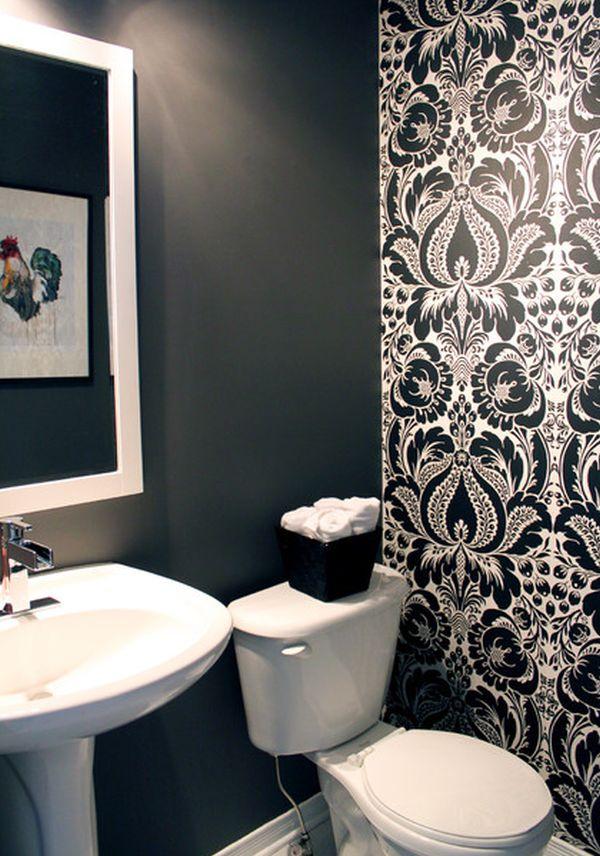 Cuartos de baño decorados en color negro ¿te animas?