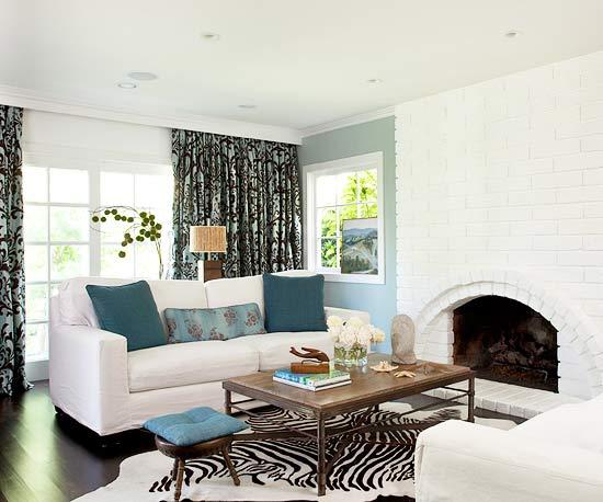Decoremos en color azul y toda su gama nuestra sala de estar for Sala de estar marron