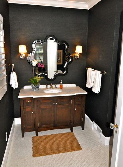 Elegantes cuartos de ba o decorados en negro - Cuartos de bano elegantes ...