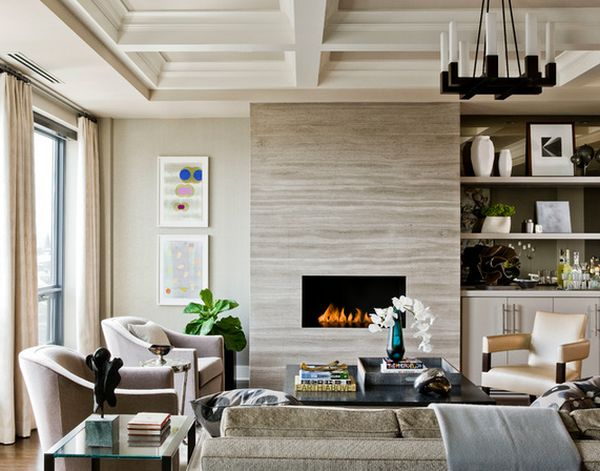 How to make a living room look larger?   Diseño de techo