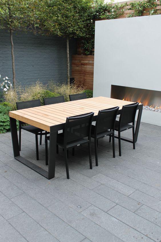 18 modernos comedores al aire libre for Comedor al aire libre