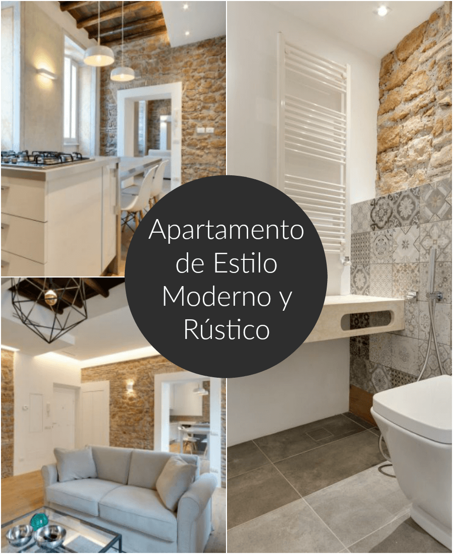 Un apartamento en roma de estilo moderno y r stico for Decoracion de interiores modernos 2017