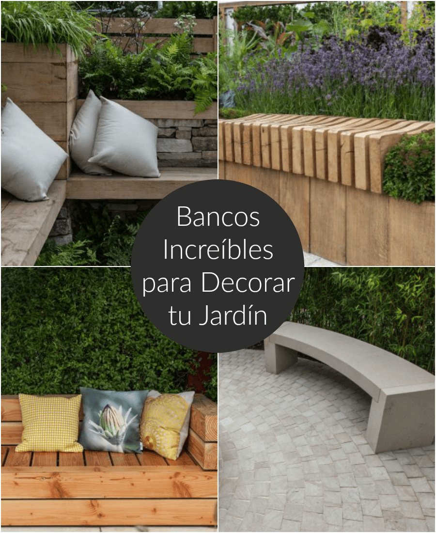 Bancos incre bles para decorar tu jard n for Bancos de jardin