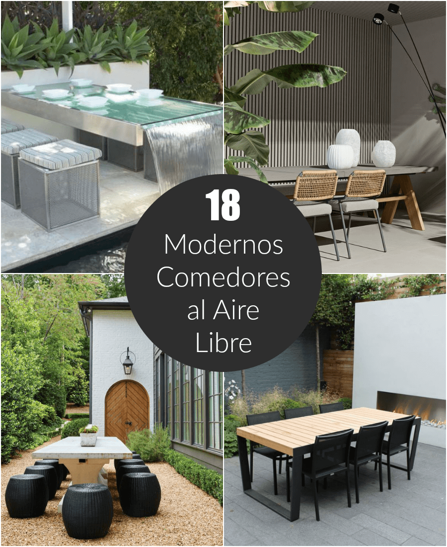 18 modernos comedores al aire libre