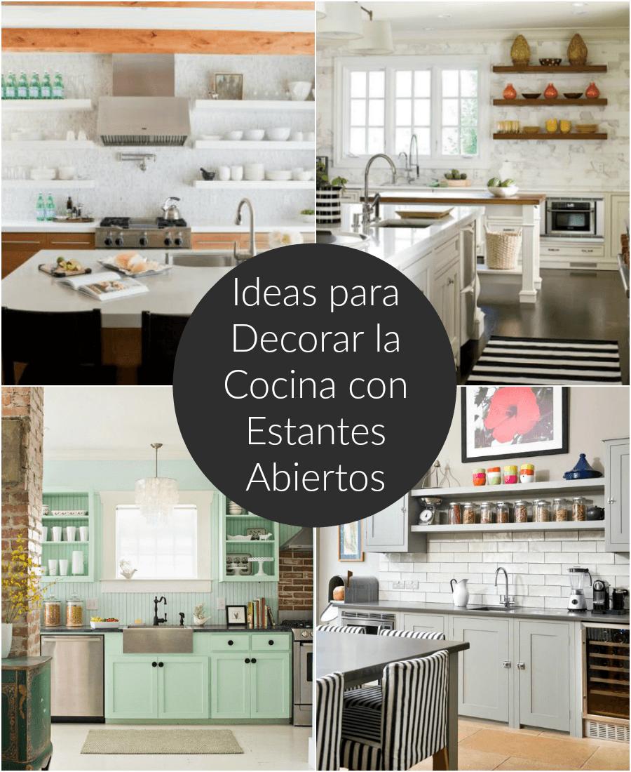 Cómo decorar la cocina con estantes abiertos
