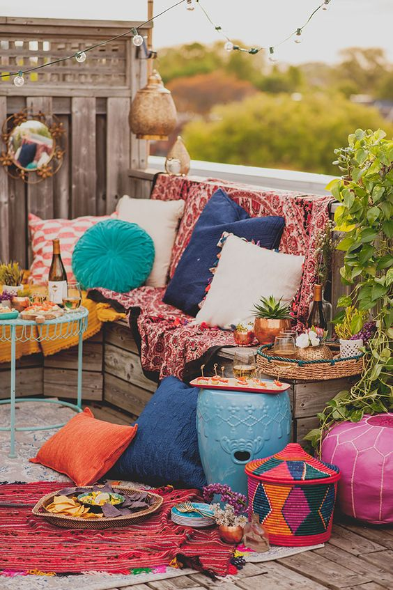 Decora tu terraza en estilo boho marroqui 01 gu a para - Decora tu terraza ...