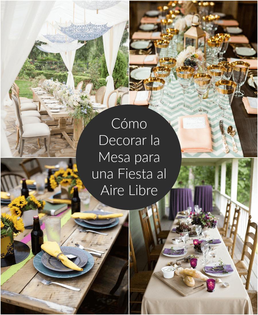 C mo decorar la mesa para una fiesta al aire libre - Decorar mesas para eventos ...