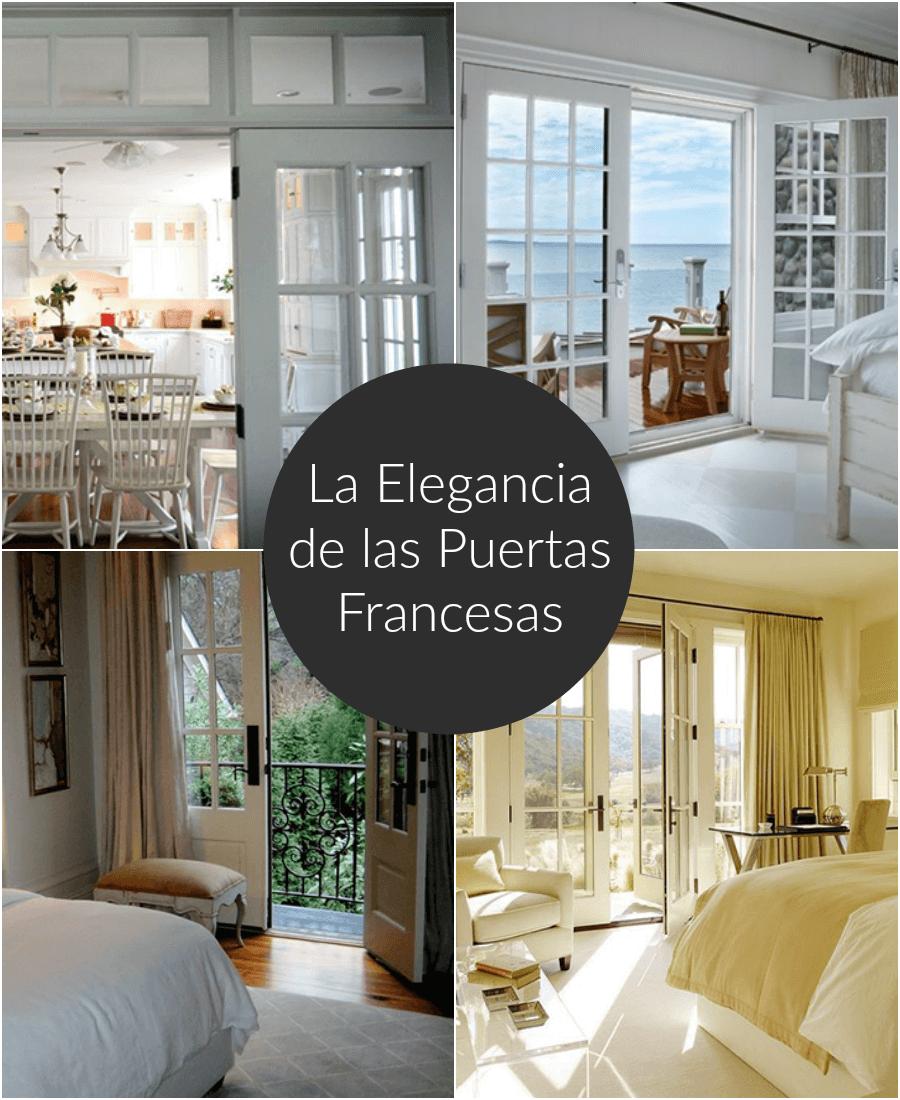 La elegancia y el encanto de las puertas francesas for Puertas para patio interior