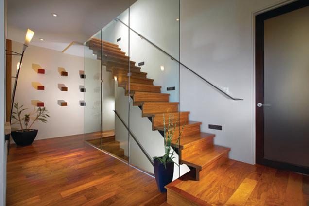 Escaleras Con Barandillas De Cristal - Barandas-escaleras-modernas