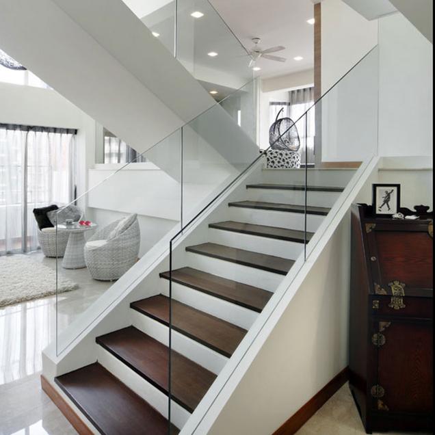 Escaleras con barandillas de cristal - Barandillas de cristal ...