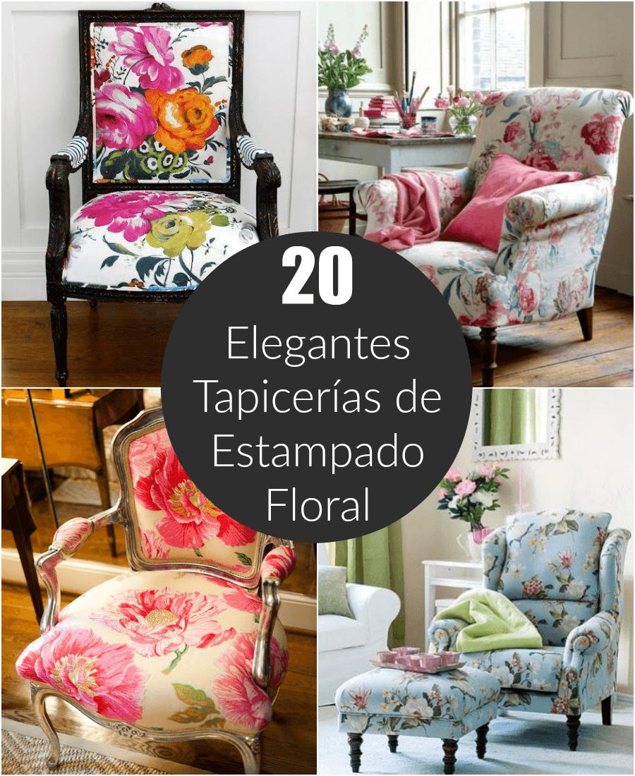 20 elegantes tapicer as de estampado floral - Tela de tapiceria para sillones ...