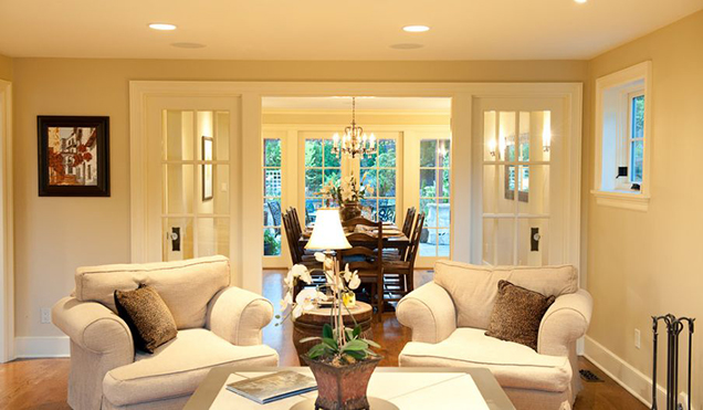 French Doors Patio Family Rooms