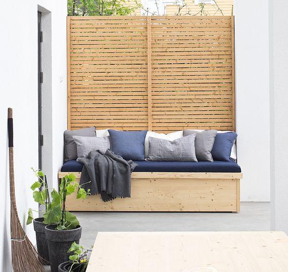 Mobiliario de almacenamiento para exterior