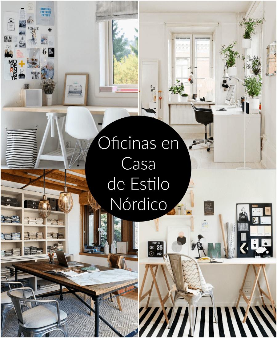 Maravillosas oficinas en casa de estilo n rdico - Decoracion de despachos en casa ...