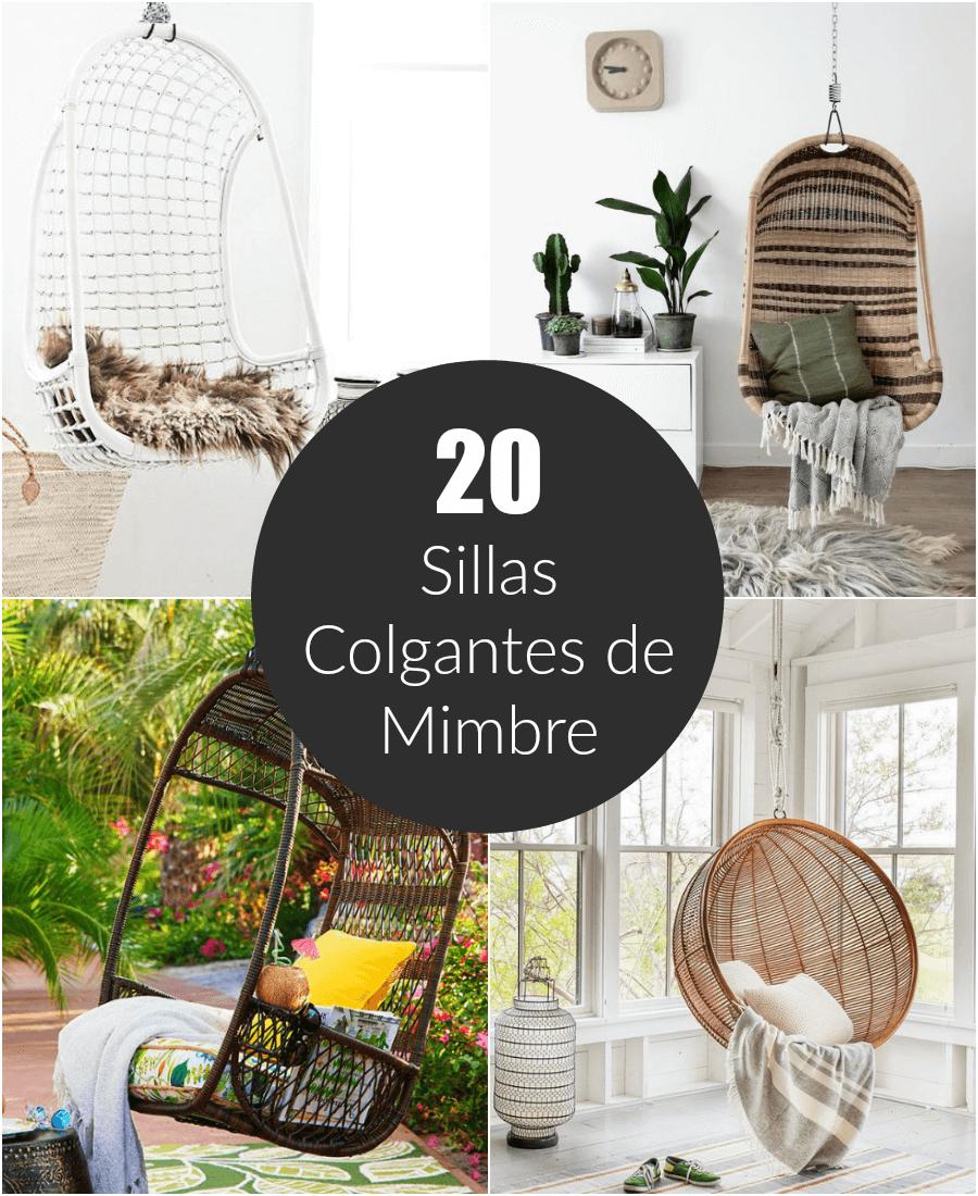 20 sillas colgantes de mimbre - Silla colgante ...