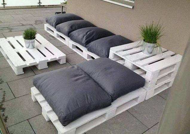 Muebles modernos hechos con palets - Muebles de jardin hechos con palets ...