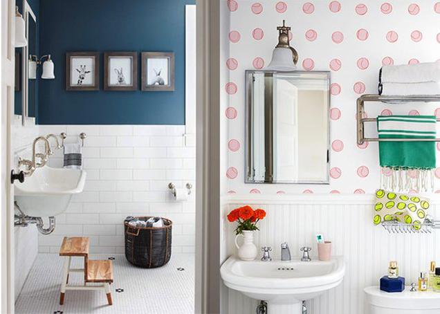 13 maneras de decorar las paredes del ba o - Formas de pintar paredes interiores ...