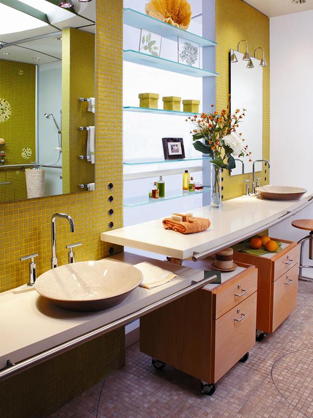 20 lavabos hechos con materiales reciclados for Altura de lavabo