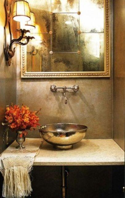 8 fantasticos lavabos de metal y 7 de porcelana decorada for Lavabos de porcelana