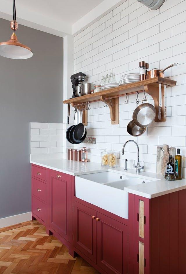 Colores inusuales para tu cocina que te sorprender n - Cocinas pintadas ...