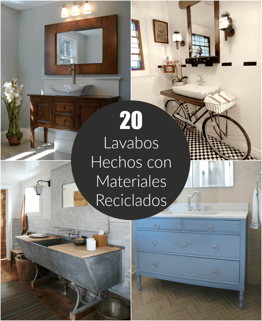 20 lavabos hechos con materiales reciclados - Material de gimnasio para casa ...