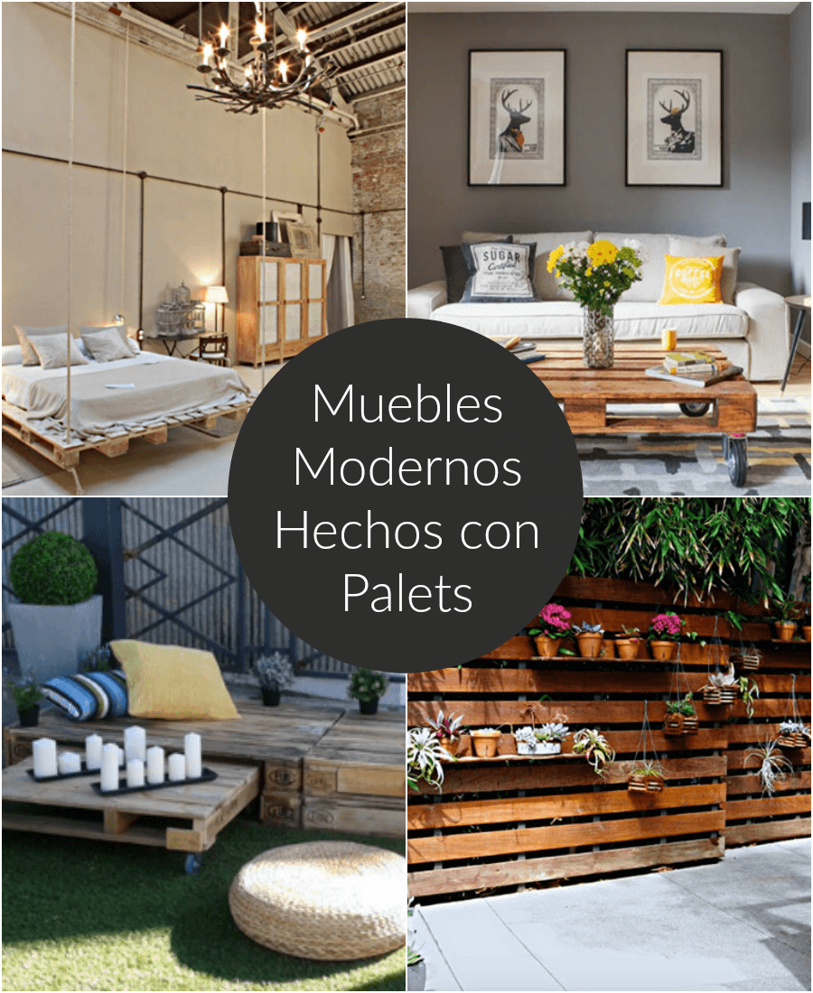 Muebles modernos hechos con palets for Muebles modernos