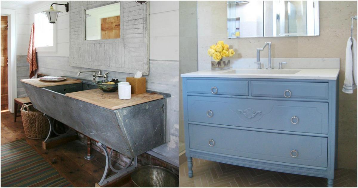 20 lavabos hechos con materiales reciclados - Muebles hechos con materiales reciclados ...