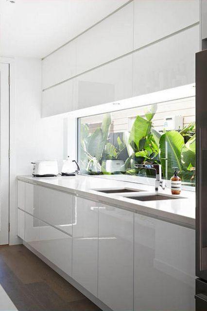 15 ventanas salpicadero de cocina On elemento de cocina negro brillante