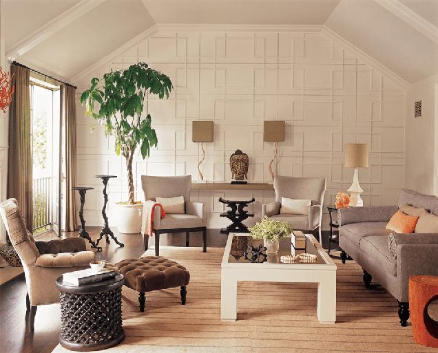 16 salas de estar con paredes de acento - Colores para paredes interiores ...