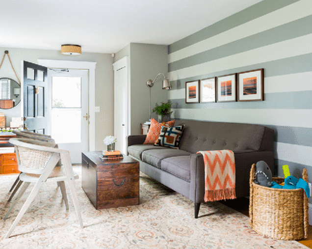16 salas de estar con paredes de acento