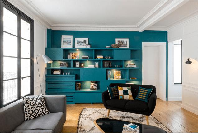 ideas geniales para pintar la sala de estar 16 Salas De Estar Con Paredes De Acento