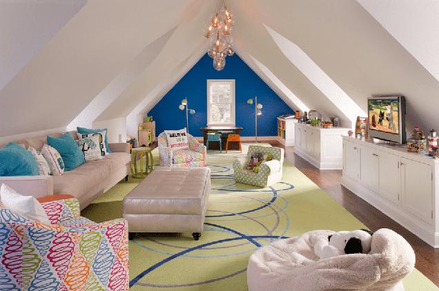 16 salas de estar con paredes de acento for Sala de estar larga
