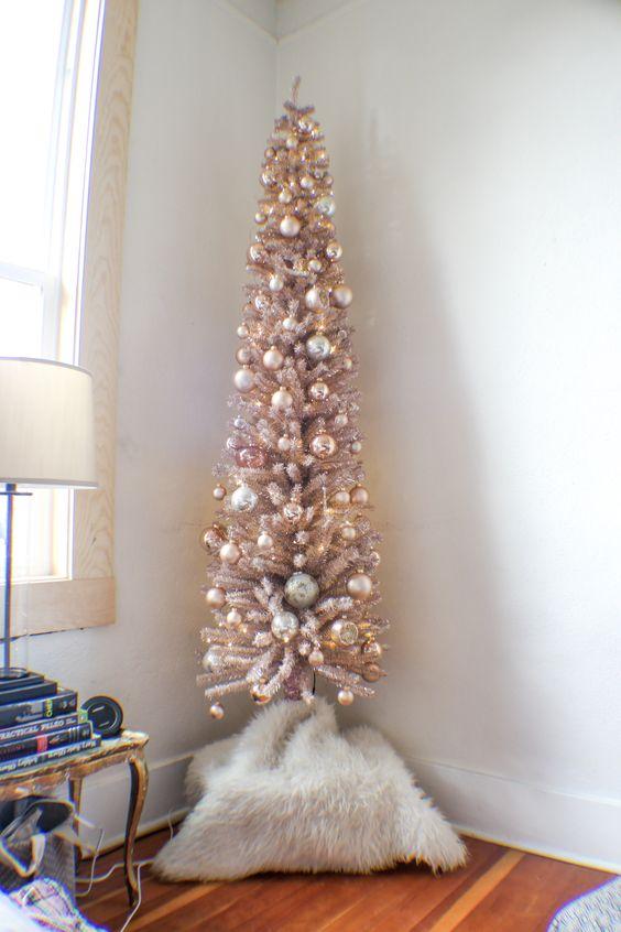 Arboles De Navidad En Color Rosa Muy Original - Arbol-de-navidad-decorado