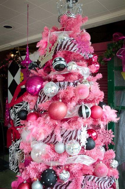 193 Rboles De Navidad En Color Rosa 161 Muy Original