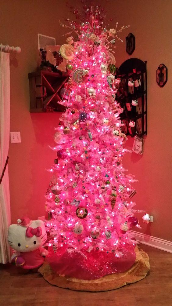 Arboles De Navidad En Color Rosa Muy Original