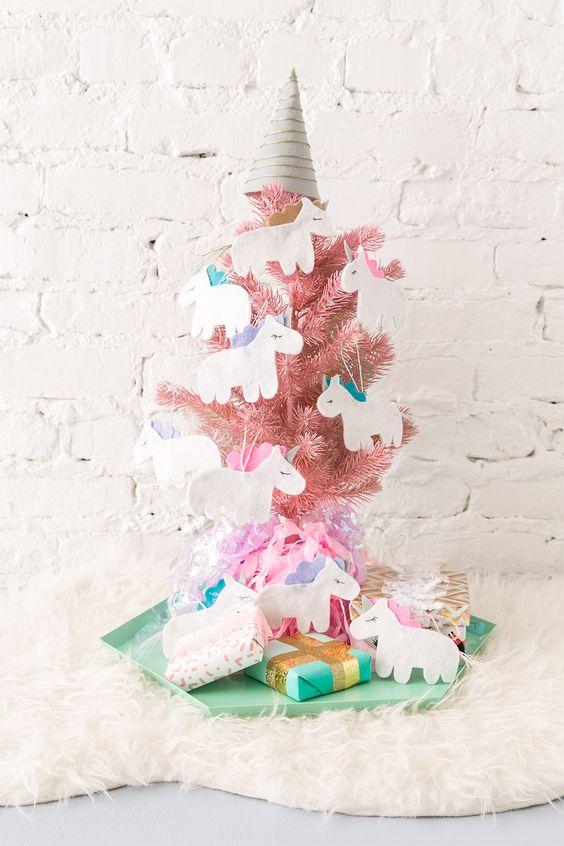 Arboles De Navidad En Color Rosa Muy Original - Arboles-de-naidad
