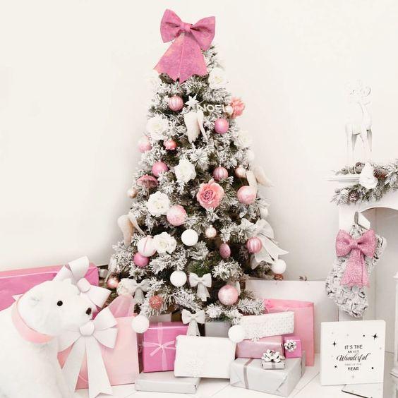 Rboles de navidad en color rosa muy original - Arboles de navidad rosa ...