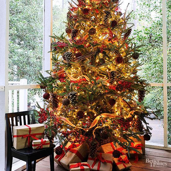 Rboles de navidad naturales para enamorarse - Lazos para arbol de navidad ...