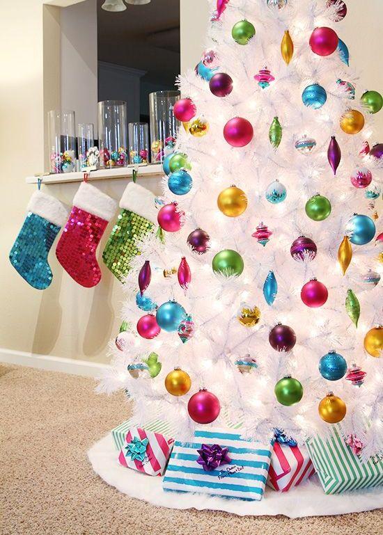 Ideas para decorar un rbol de navidad blanco - Arbol navidad blanco ...
