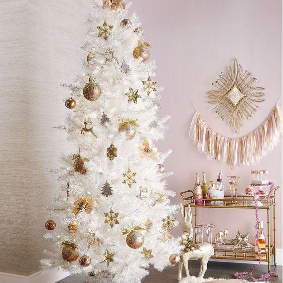 Ideas para decorar un rbol de navidad blanco - Arboles de navidad blancos ...