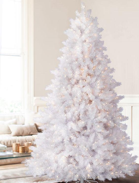 Arbol navidad blanco 4 gu a para decorar - Arboles navidad blancos ...
