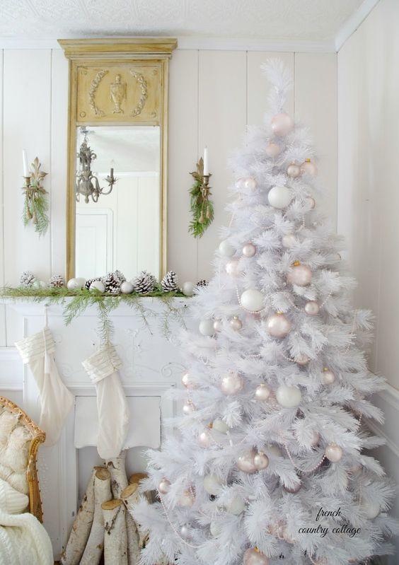 Ideas para decorar un rbol de navidad blanco - Arboles navidad blancos ...