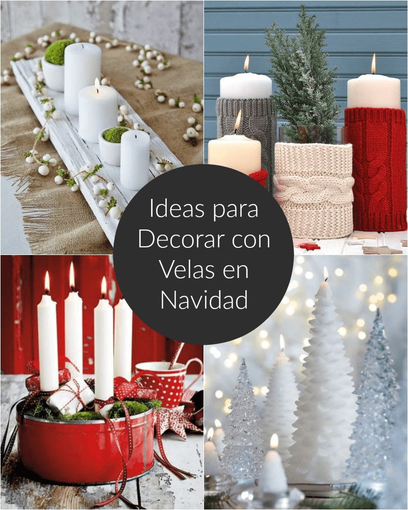 Ideas para decorar con velas en navidad for Ideas para decorar antejardin