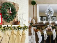 imagen 19 ideas para decorar tu chimenea por Navidad