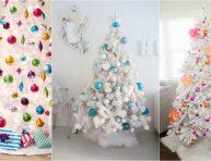 imagen Ideas para decorar un árbol de Navidad blanco