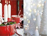 imagen Ideas para decorar con velas en Navidad